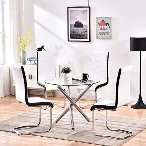 Modern 4 Seater Glass Dining Table